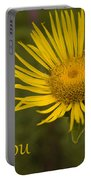 Thank You Yellow Aster Portable Battery Charger