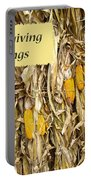 Thanksgiving Greeting Card - Dried Corn Stalks Portable Battery Charger