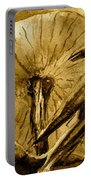 That Which Lies Behind In Sepia Portable Battery Charger