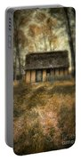 Thatched Roof Cottage In The Woods Portable Battery Charger