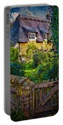 Thatched Roof Country Home Portable Battery Charger