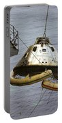 The Apollo 9 Command Module Is Hoisted Portable Battery Charger
