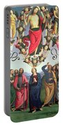 The Ascension Of Christ Portable Battery Charger by Pietro Perugino