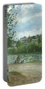The Banks Of The Oise At Pontoise Portable Battery Charger