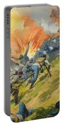 The Battle Of Gettysburg Portable Battery Charger by Severino Baraldi