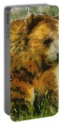 The Bear Painterly Portable Battery Charger