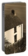 The Boathouse At Laugharne Sepia Portable Battery Charger