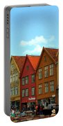 The Bryggen District Of Bergen Portable Battery Charger