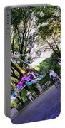 The Bubble Man Of Central Park Portable Battery Charger
