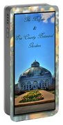 The Buffalo And Erie County Botanical Gardens Triptych Series With Text Portable Battery Charger