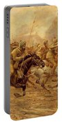 The Charge Of The Bengal Lancers At Neuve Chapelle Portable Battery Charger