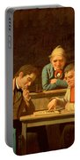 The Checker Players Portable Battery Charger by George Caleb Bingham