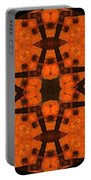 The Color Orange Mandala Abstract Portable Battery Charger