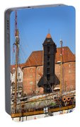 The Crane In Gdansk Portable Battery Charger