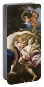 The Death Of Adonis Portable Battery Charger by Il Baciccio