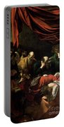 The Death Of The Virgin Portable Battery Charger by Caravaggio