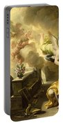 The Dream Of Saint Joseph Portable Battery Charger by Luca Giordano