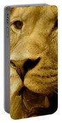 The Face Of God In Sepia Tones Portable Battery Charger
