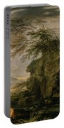 The Finding Of Moses Portable Battery Charger by Salvator Rosa