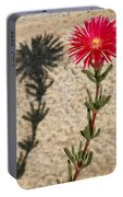 The Flower And Its Shadow Portable Battery Charger