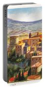 The Fortified Walled Village Of Gualdo Cattaneo Umbria Italy Portable Battery Charger
