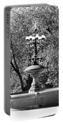 The Fountain In Black And White Portable Battery Charger
