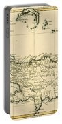 The French And Spanish Colony Of The Island Of St Dominic Of The Greater Antilles Portable Battery Charger by Guillaume Raynal