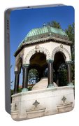 The German Fountain In Istanbul Portable Battery Charger