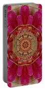 The Golden Orchid Mandala Portable Battery Charger