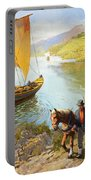The Grape-pickers Of Portugal Portable Battery Charger by van der Syde