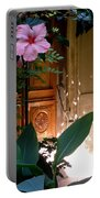The Hibiscus Greeter Portable Battery Charger