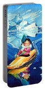 The Kayak Racer 13 Portable Battery Charger by Hanne Lore Koehler