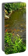 The Koi Are Feeding Portable Battery Charger