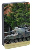 The Leopard 1a5 Main Battle Tank In Use Portable Battery Charger