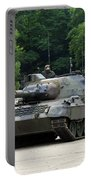 The Leopard 1a5 Mbt Of The Belgian Army Portable Battery Charger