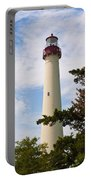 The Lighthouse At Cape May New Jersey Portable Battery Charger by Bill Cannon