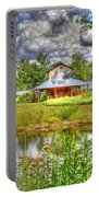 The Old Barn By The Pond Portable Battery Charger