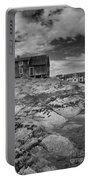 The Old Fisherman's Hut Bw Portable Battery Charger by Heiko Koehrer-Wagner