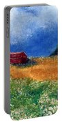 The Old Red Barn Portable Battery Charger