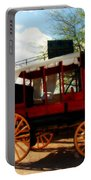 The Old Stage Coach Portable Battery Charger by Susanne Van Hulst