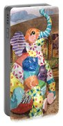 The Patchwork Elephant Art Portable Battery Charger