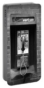 The Payphone - Black And White Portable Battery Charger