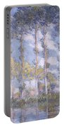 The Poplars Portable Battery Charger by Claude Monet