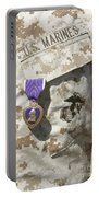 The Purple Heart Award Hangs Portable Battery Charger by Stocktrek Images