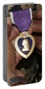 The Purple Heart Award Portable Battery Charger