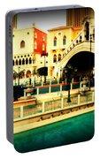 The Rialto Bridge Of Venice In Las Vegas Portable Battery Charger