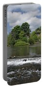 The Riverside And Weir - Bakewell Portable Battery Charger