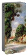The Road To Essoyes Portable Battery Charger by Pierre Auguste Renoir