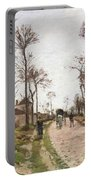 The Road To Saint Cyr At Louveciennes Portable Battery Charger by Camille Pissarro