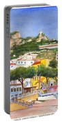 The Ruined Tower Above The Beach At Amalfi On The Southern Italian Coast Portable Battery Charger